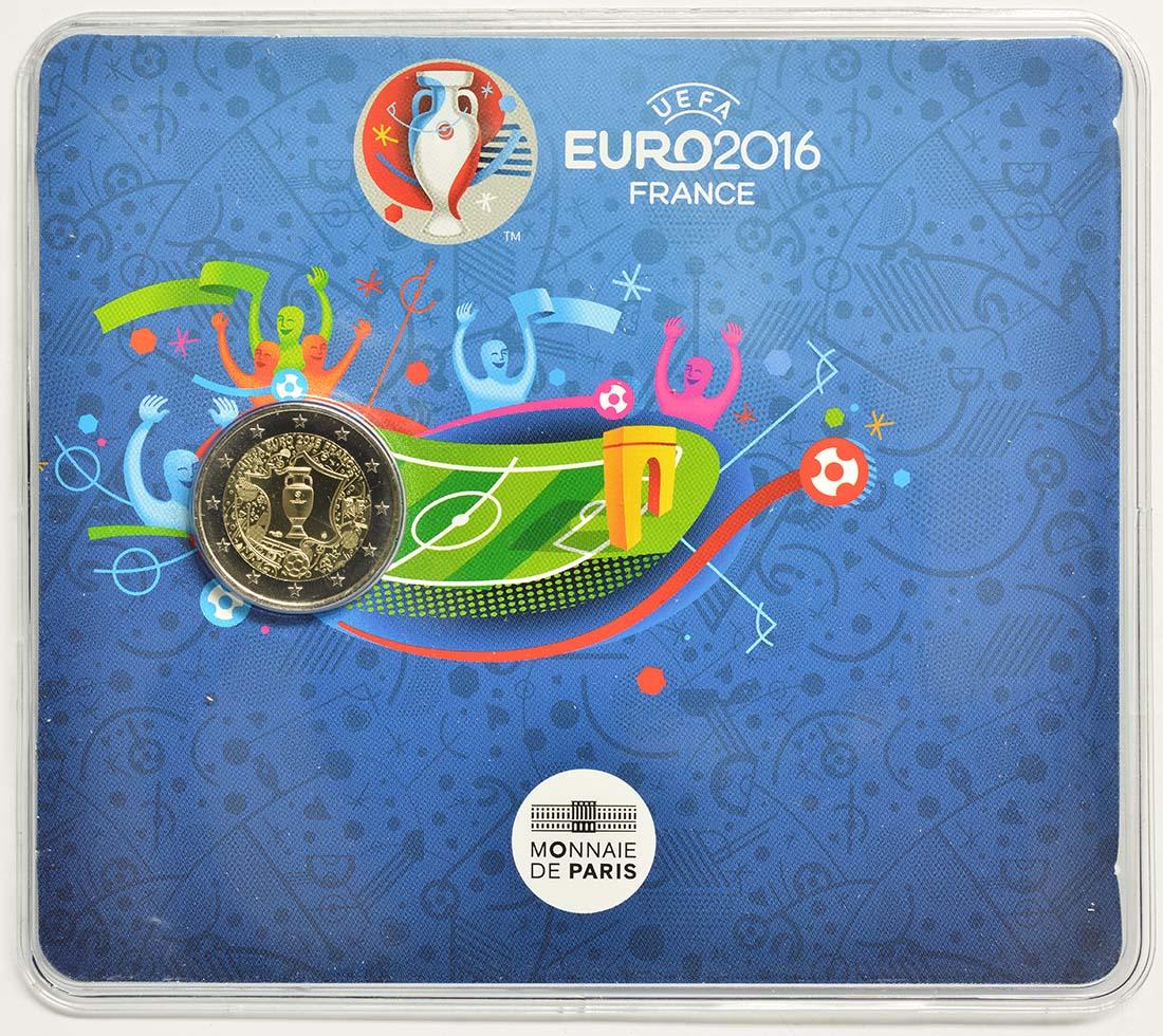 Frankreich : 2 Euro Fußball EM 2016  2016 Stgl.