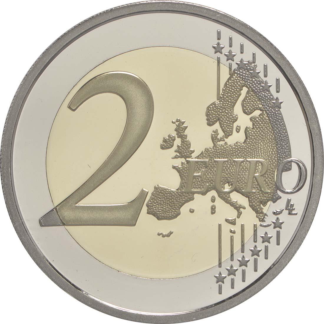 Vorderseite:Frankreich : 2 Euro Fußball EM 2016  2016 PP