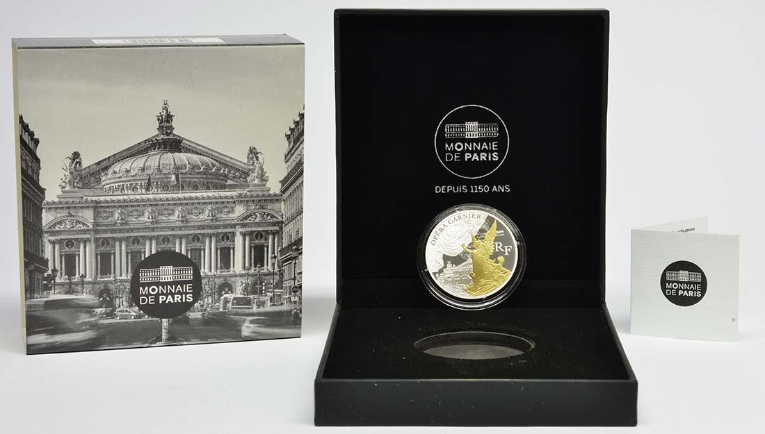 Lieferumfang:Frankreich : 10 Euro Garnier Oper - teilvergoldet  2016 PP