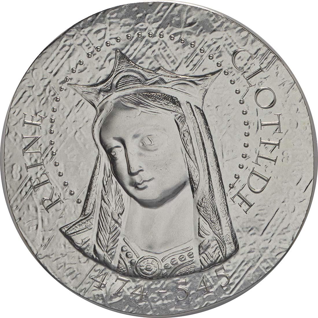 Vorderseite:Frankreich : 10 Euro Königin Clotilde  2016 PP