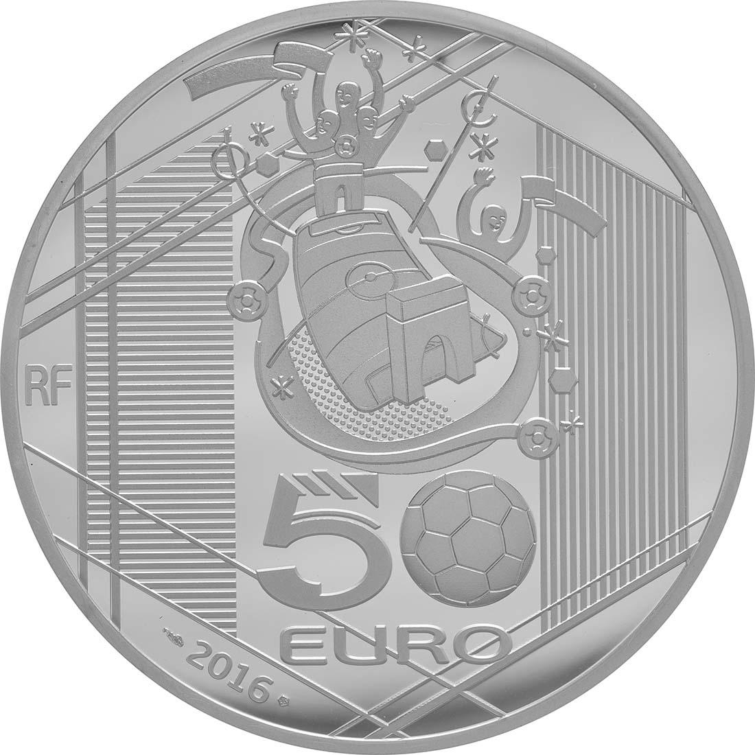 Rückseite:Frankreich : 50 Euro Schuß  2016 PP