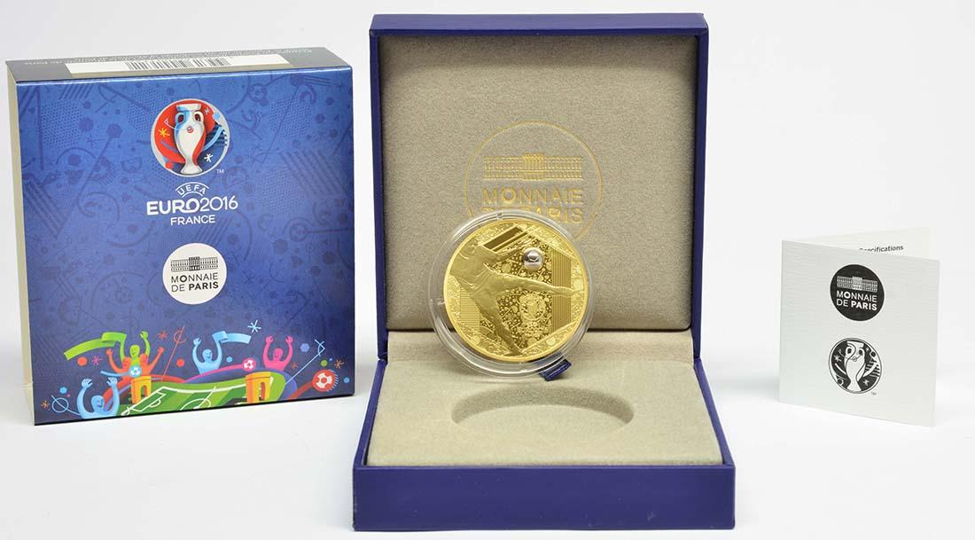 Lieferumfang:Frankreich : 200 Euro Schuß - plastisch aufgetragenes Weißgold  2016 PP