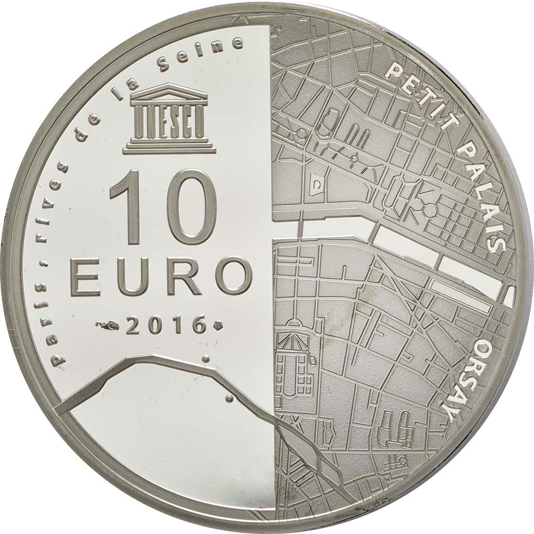 Rückseite:Frankreich : 10 Euro Ufer der Seine  2016 PP