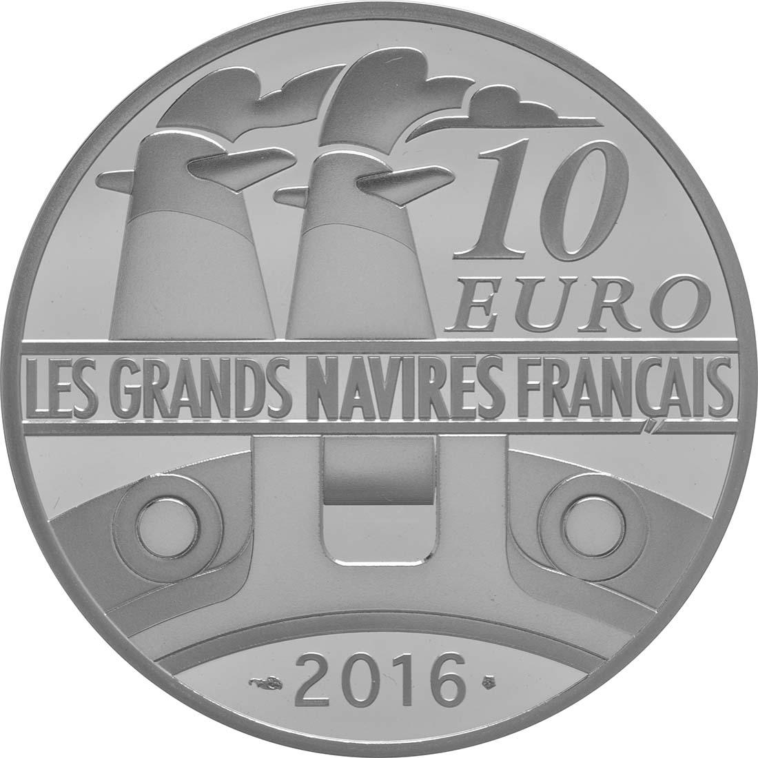 Rückseite:Frankreich : 10 Euro Ile de France  2016 PP