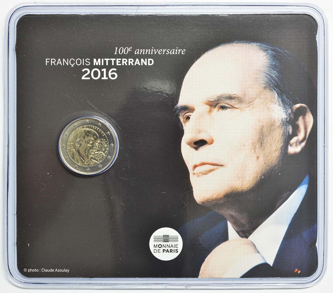 Frankreich : 2 Euro Mitterrand  2016 Stgl.