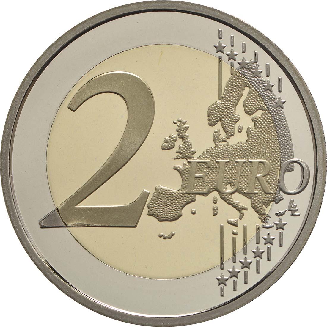 Vorderseite:Frankreich : 2 Euro Mitterrand  2016 PP