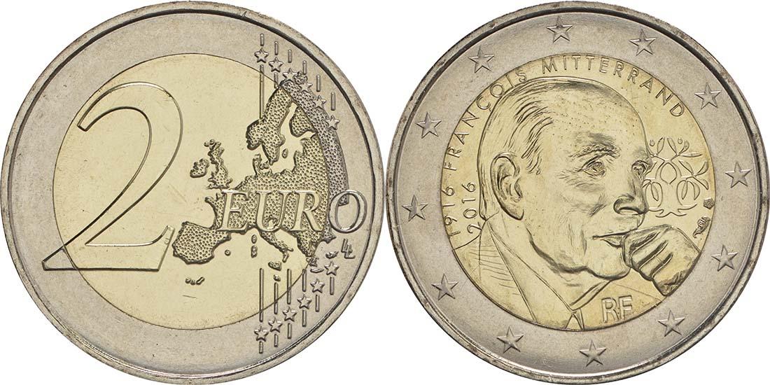 Frankreich : 2 Euro Mitterrand  2016 bfr