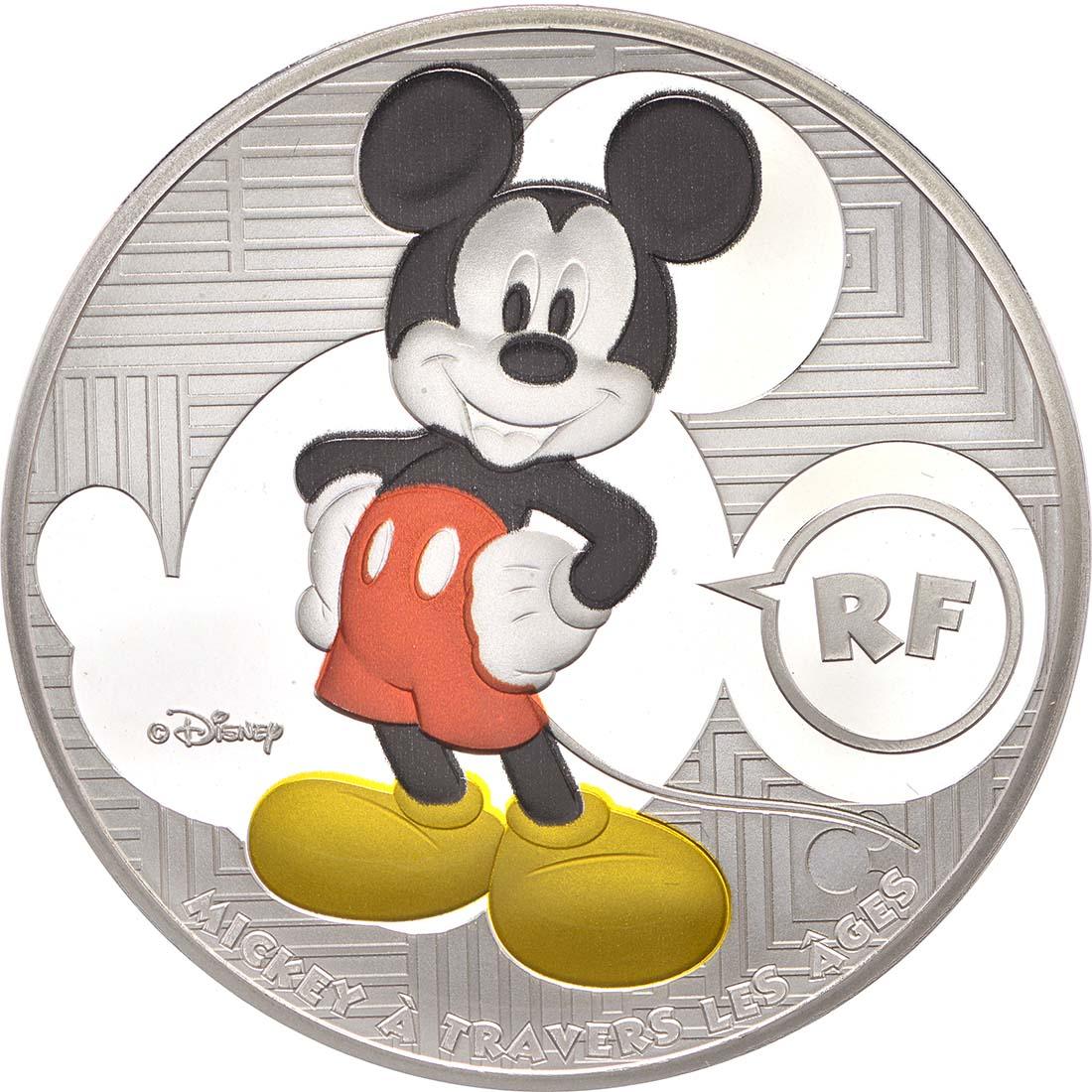 Vorderseite:Frankreich : 10 Euro Micky Maus im Wandel der Zeit  2016 PP