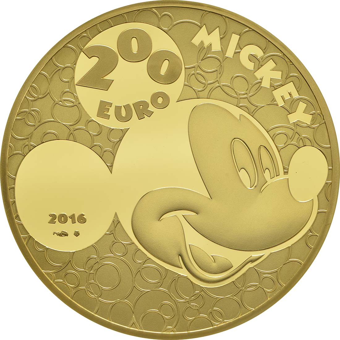 Rückseite:Frankreich : 200 Euro Micky Maus im Wandel der Zeit  2016 PP