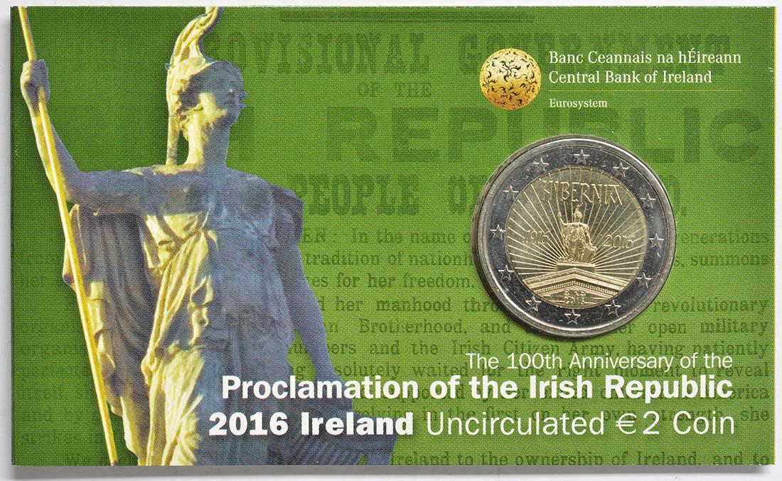 Lieferumfang:Irland : 2 Euro 100 Jahre Osteraufstand 1916  2016 bfr
