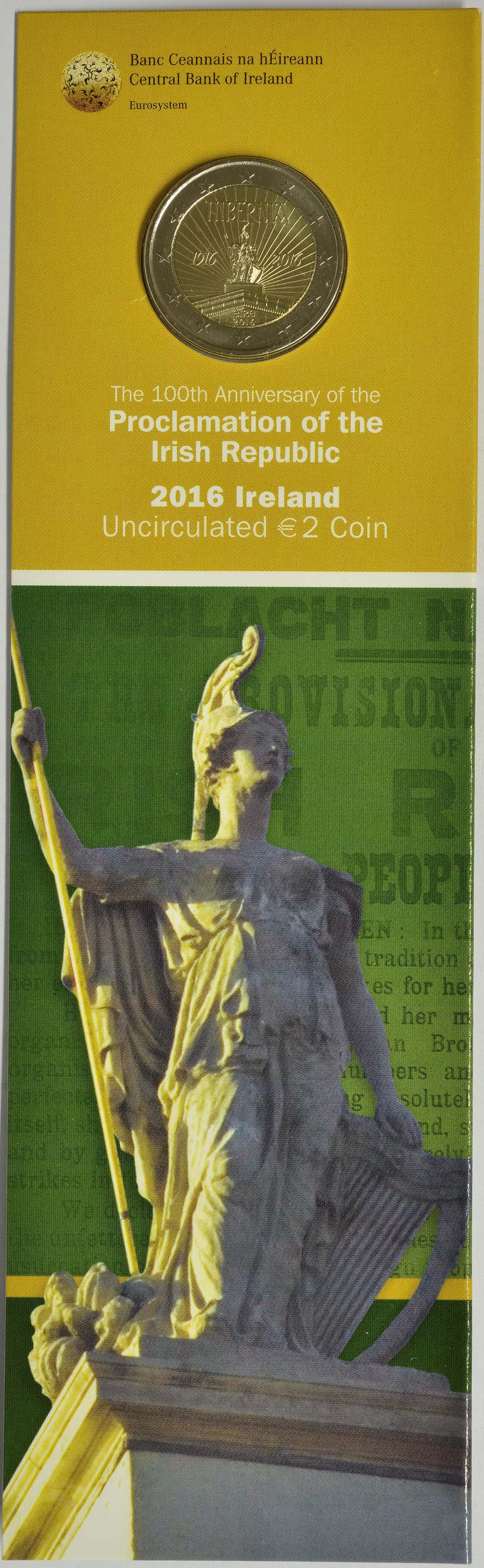 Irland : 2 Euro 100 Jahre Osteraufstand 1916  2016 bfr
