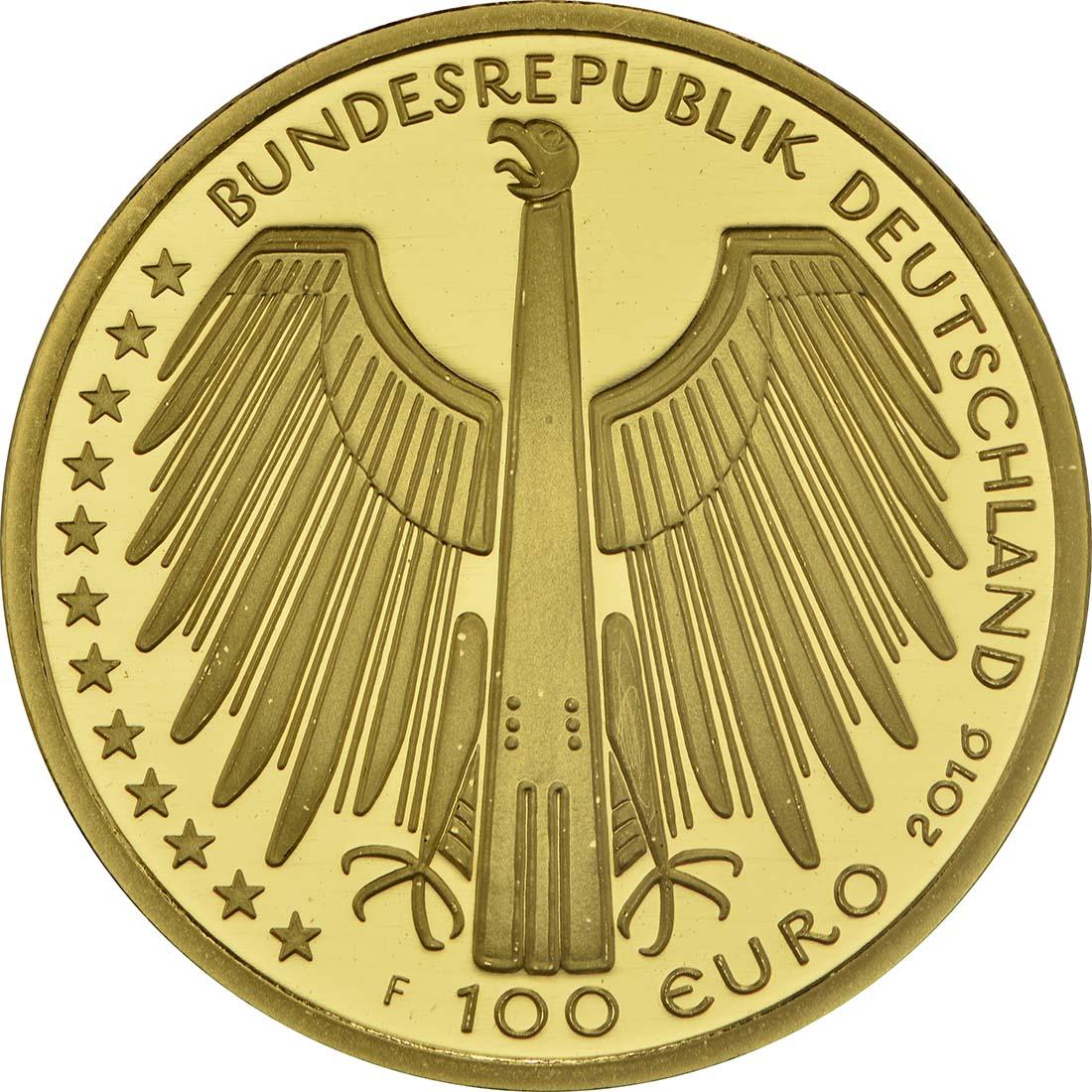 Rückseite:Deutschland : 100 Euro Altstadt Regensburg mit Stadtamhof  2016 Stgl.