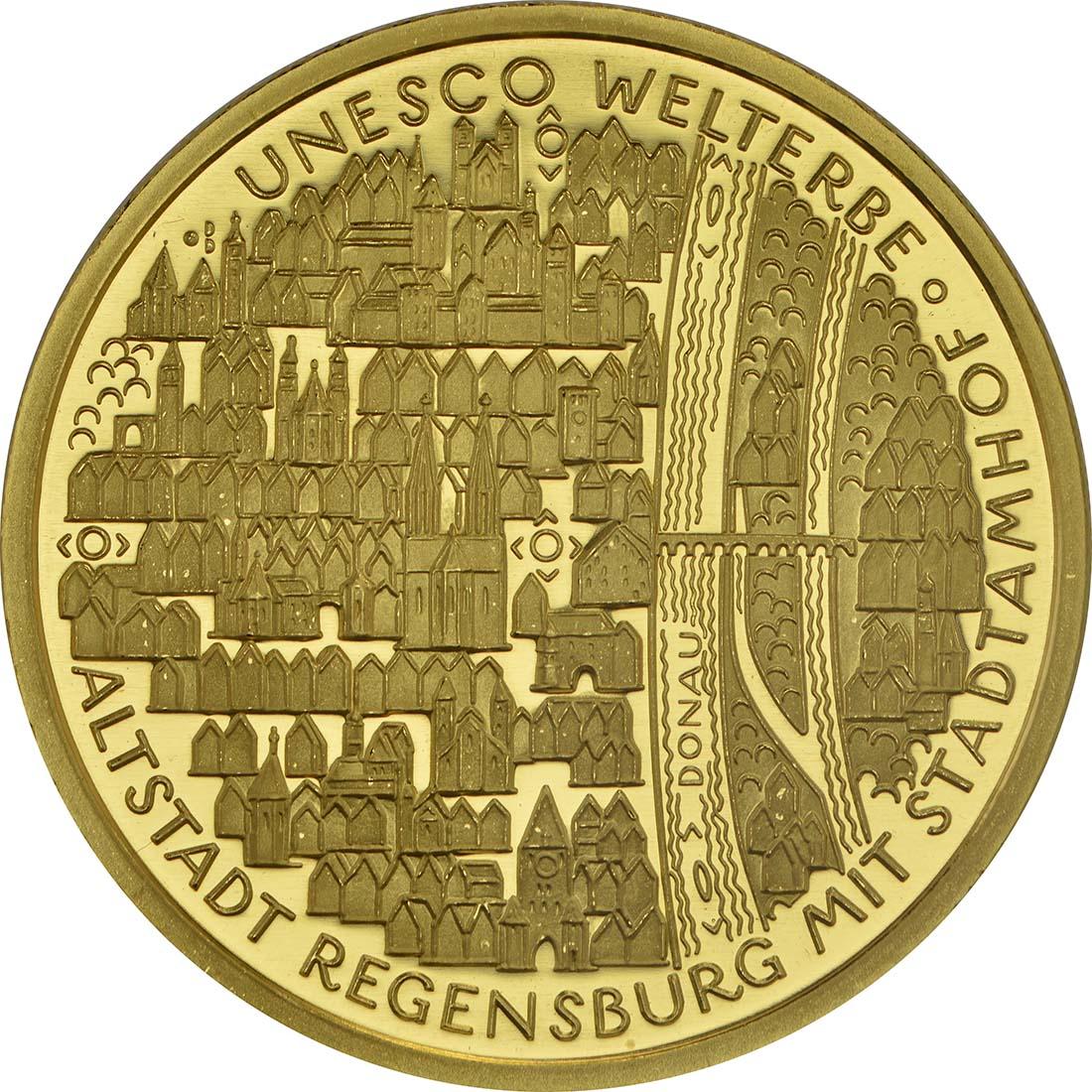 Vorderseite :Deutschland : 100 Euro Altstadt Regensburg mit Stadtamhof  2016 Stgl.