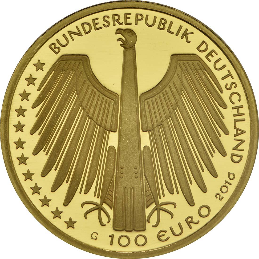 Rückseite :Deutschland : 100 Euro Altstadt Regensburg mit Stadtamhof  2016 Stgl.