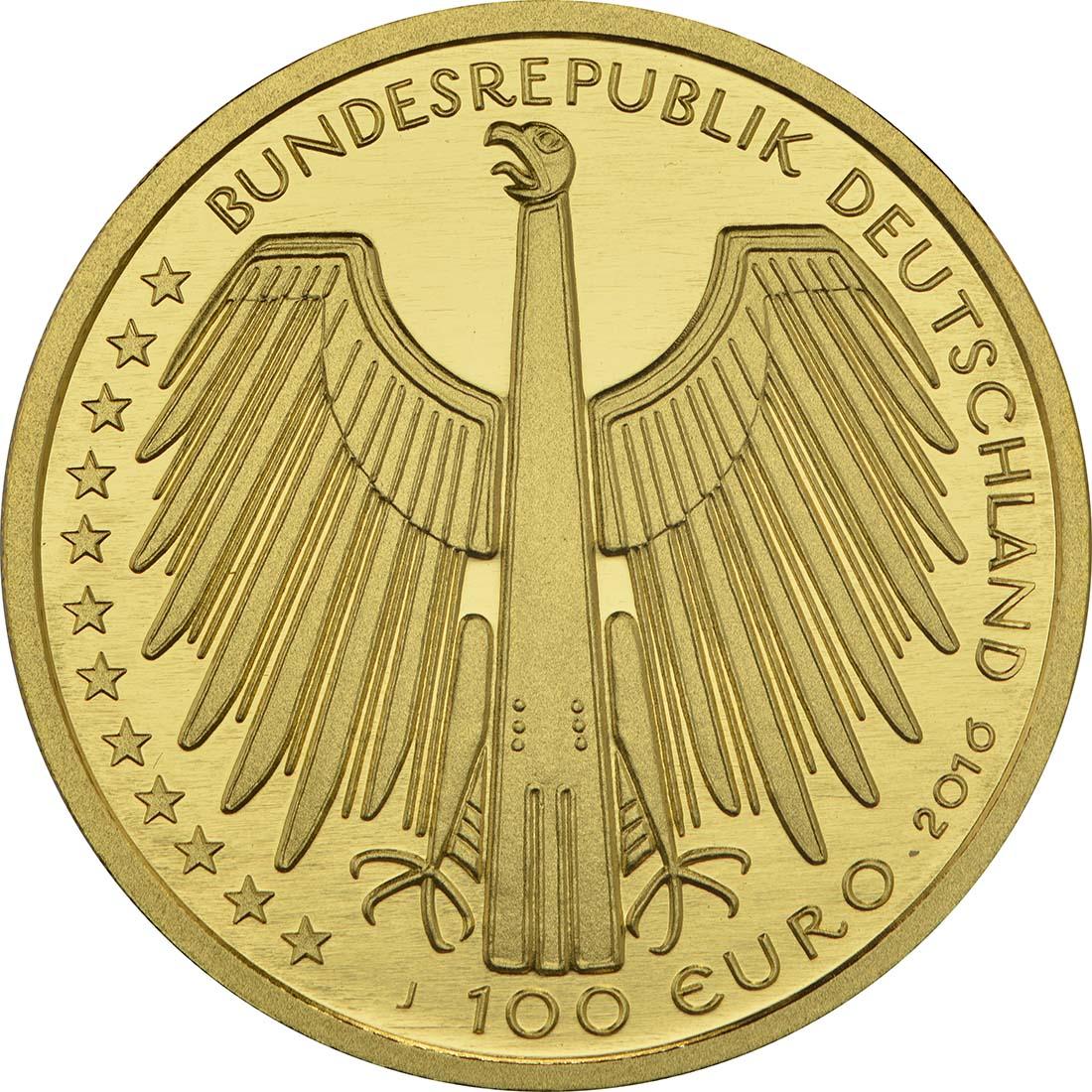 Rückseite:Deutschland : 100 Euro Altstadt Regensburg mit Stadtamhof Komplettsatz A,D,F,G,J  2016 Stgl.