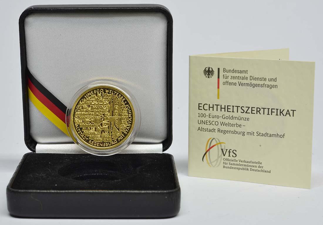 Deutschland : 100 Euro Altstadt Regensburg mit Stadtamhof Komplettsatz A,D,F,G,J  2016 Stgl.