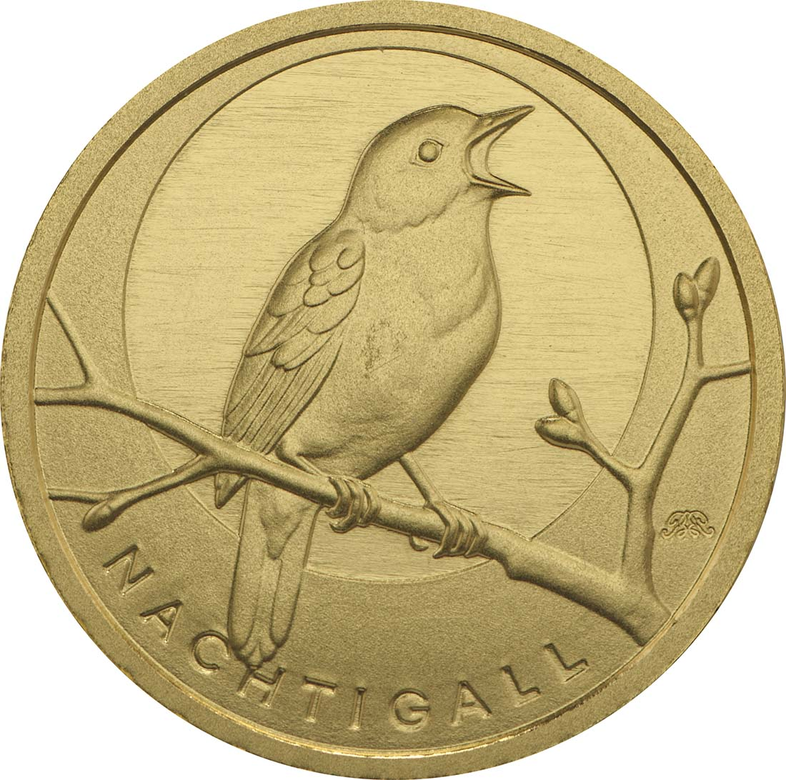Vorderseite:Deutschland : 20 Euro Nachtigall  2016 Stgl.