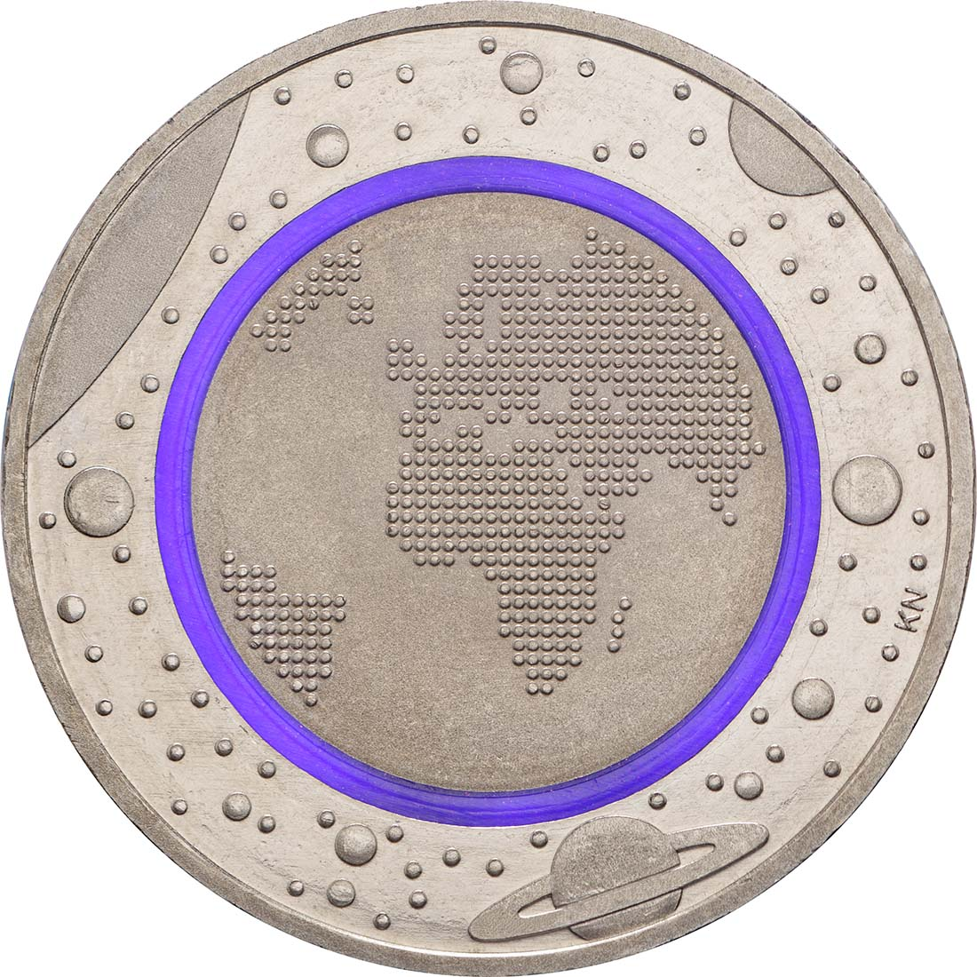 Vorderseite:Deutschland : 5 Euro Planet Erde Buchstabe unserer Wahl  2016 bfr