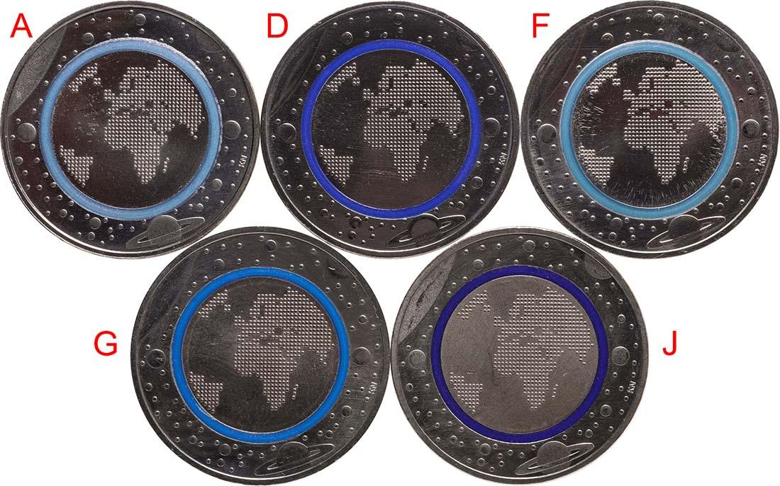 5 Euro Münze Im Fantastischen Set Blauer Planet Erde Hylen