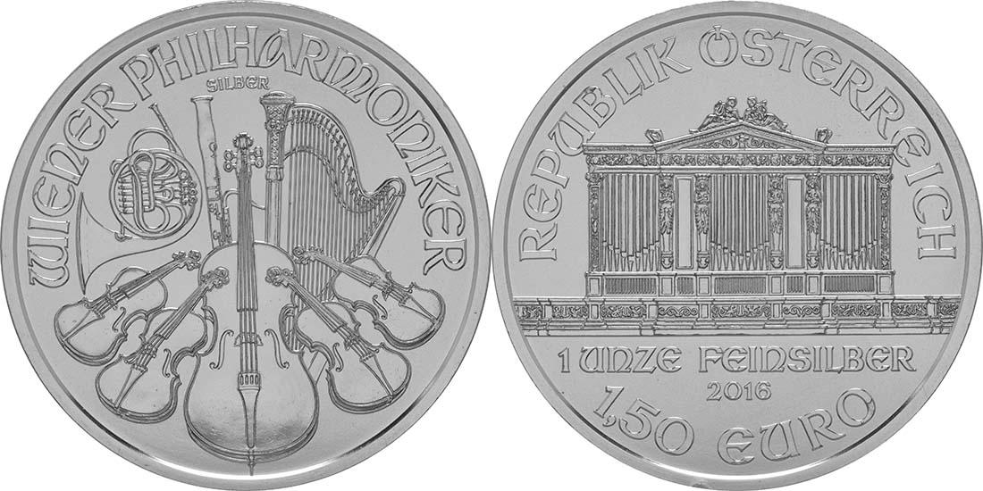 Lieferumfang:Österreich : 1,5 Euro Philharmoniker  2016 Stgl.