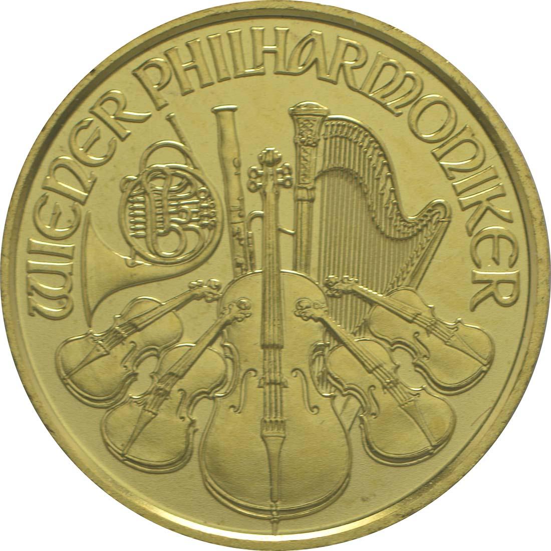 Vorderseite:Österreich : 4 Euro Philharmoniker  2016 Stgl.