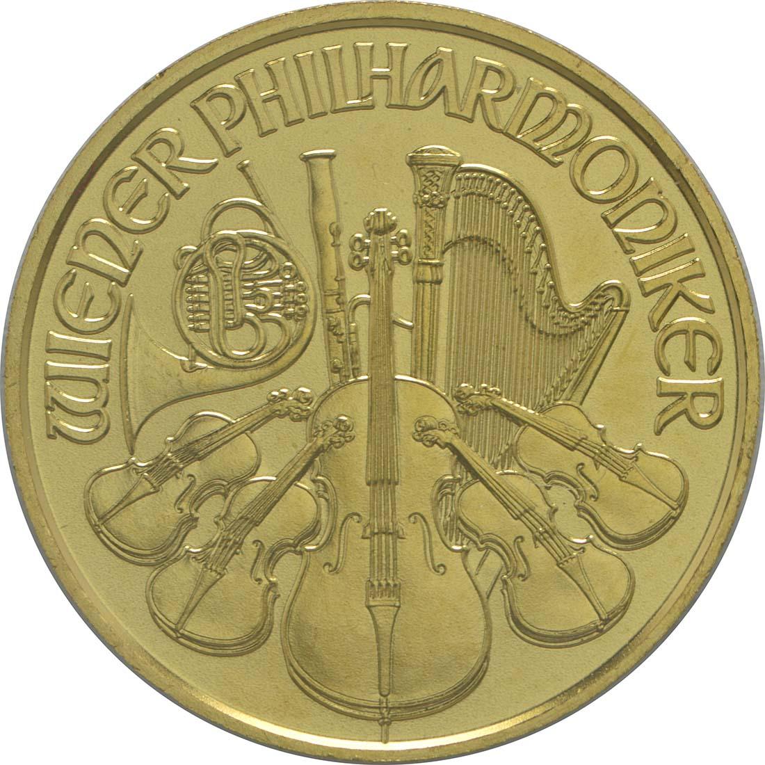 Vorderseite:Österreich : 10 Euro Philharmoniker  2016 Stgl.