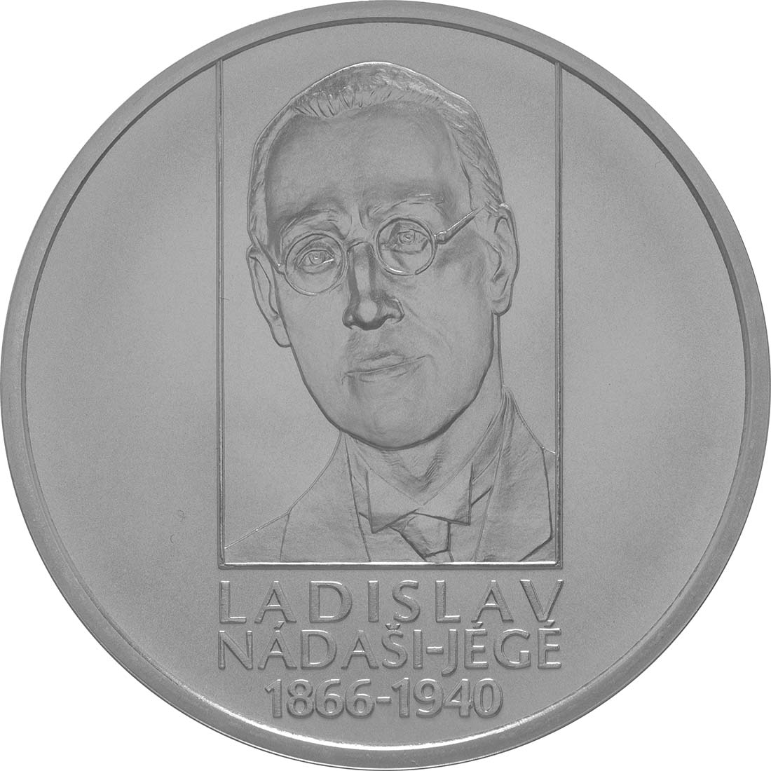 Vorderseite:Slowakei : 10 Euro 150. Geburtstag Ladislav Nadasi-Jege (Schriftsteller)  2016 Stgl.