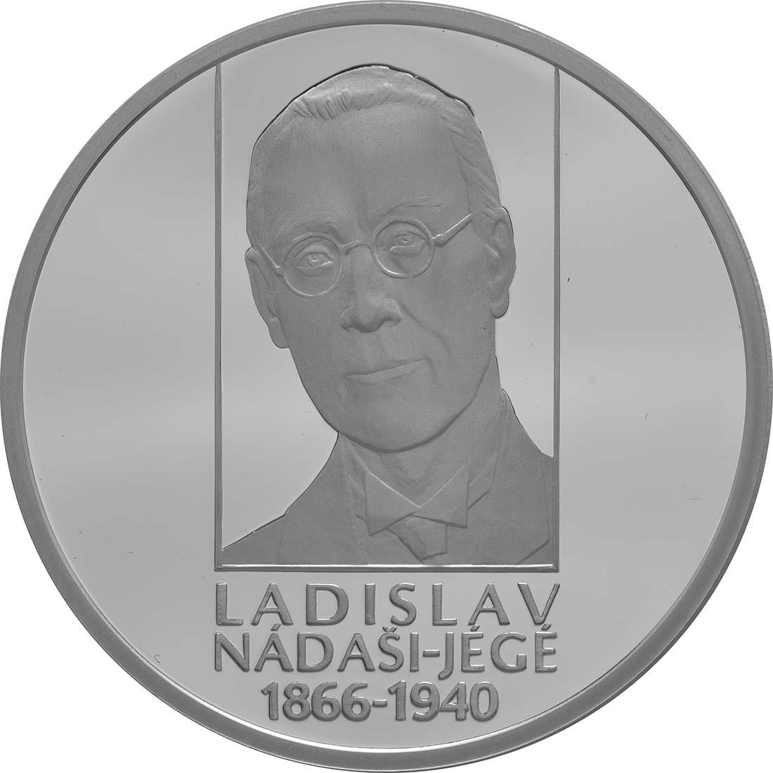 Vorderseite:Slowakei : 10 Euro 150. Geburtstag Ladislav Nadasi-Jege (Schriftsteller)  2016 PP