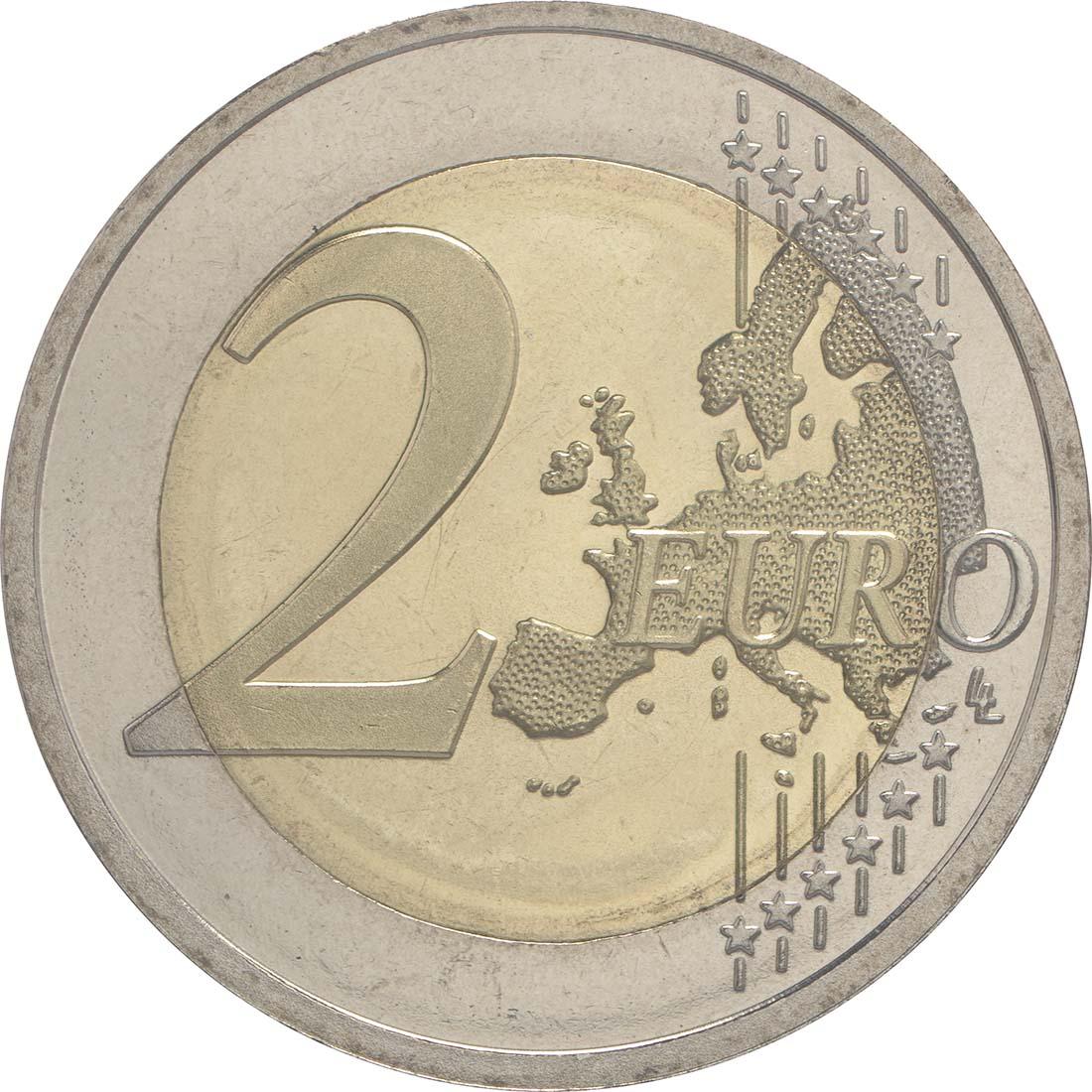 Vorderseite :Estland : 2 Euro 100. Geburtstag des Schachgroßmeisters Paul Keres  2016 bfr