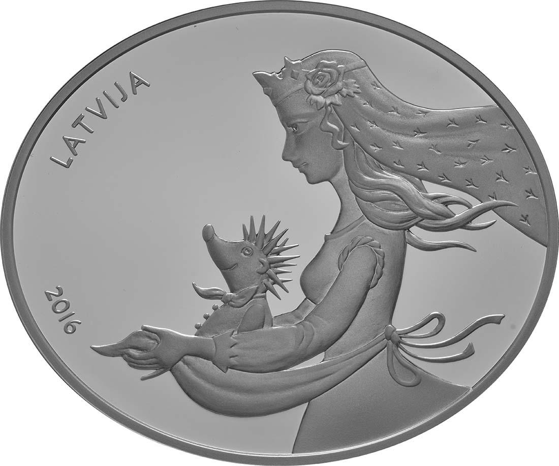 Vorderseite:Lettland : 5 Euro Hans mein Igel  2016 PP