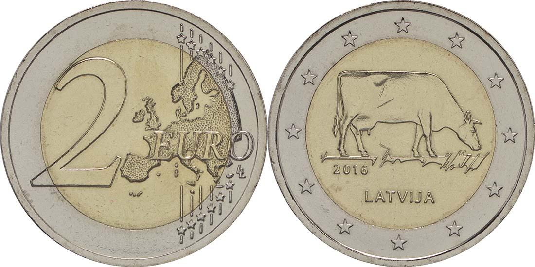 Lettland : 2 Euro Kuh  2016 bfr