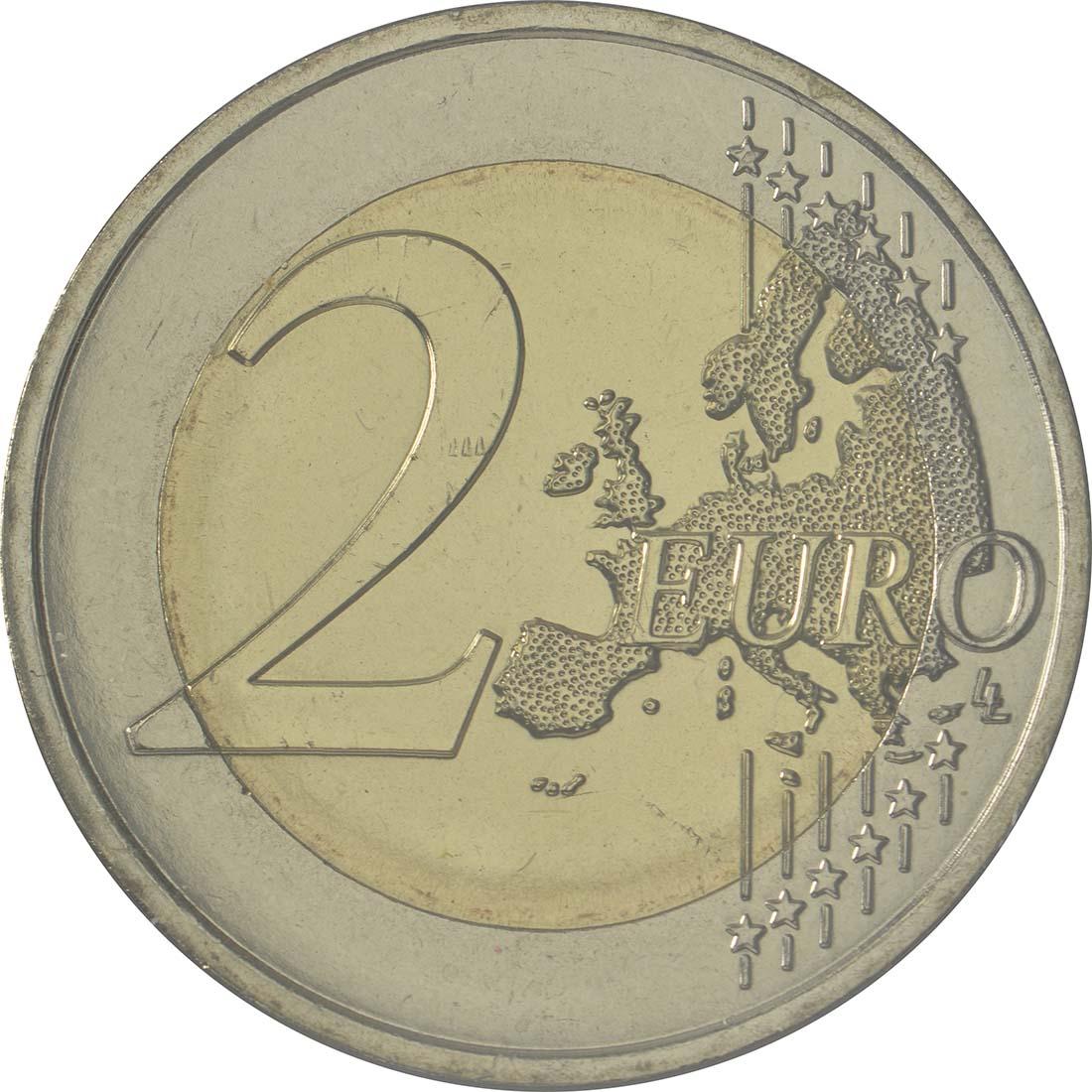 Vorderseite:Andorra : 2 Euro 25 Jahre Zollunion mit der EU  2015 Stgl.