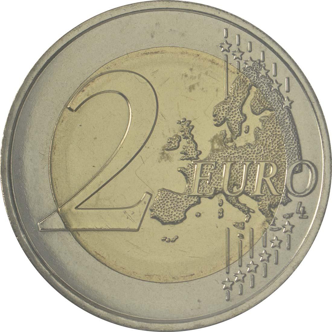 Vorderseite:Andorra : 2 Euro 30 Jahre Volljährigkeit mit 18  2015 bfr