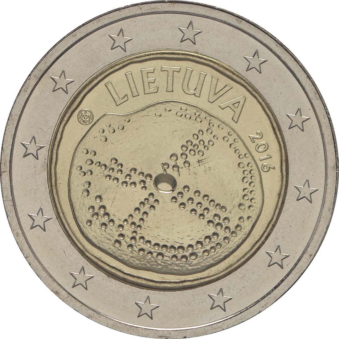 Rückseite :Litauen : 2 Euro Baltische Kultur  2016 bfr