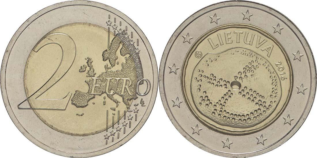 Lieferumfang:Litauen : 2 Euro Baltische Kultur  2016 bfr