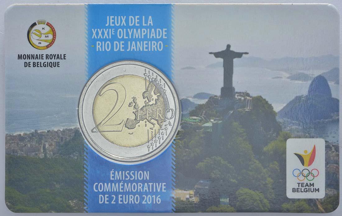 Rückseite:Belgien : 2 Euro Olympische Sommerspiele 2016 in Rio de Janeiro - Dutch Edition  2016 bfr