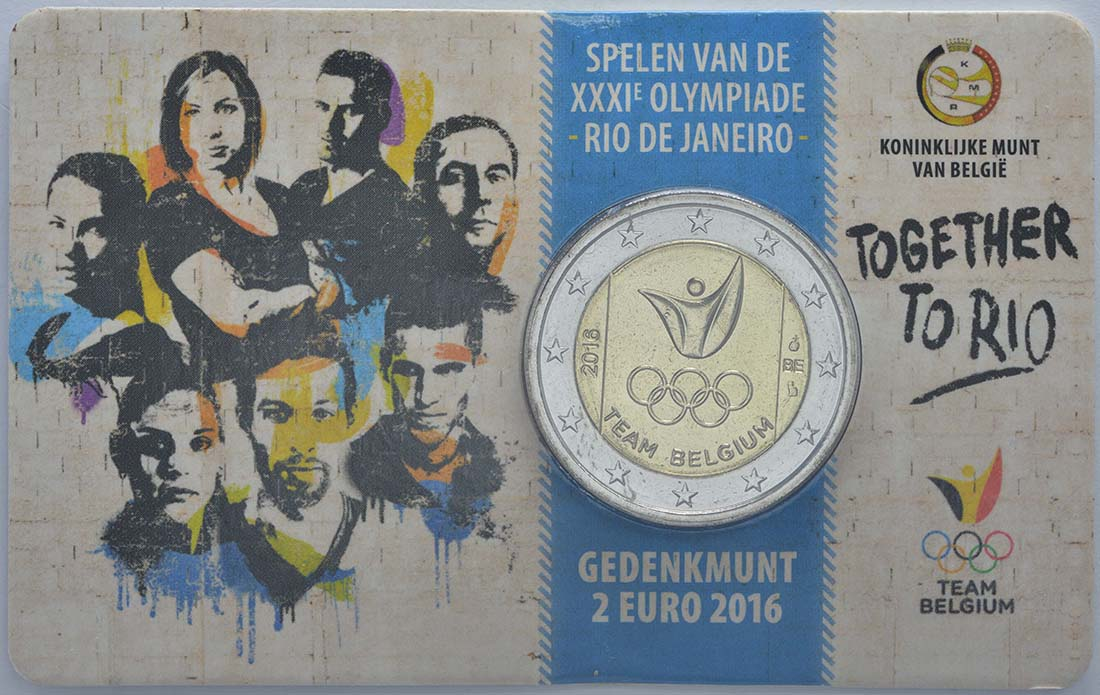 Lieferumfang:Belgien : 2 Euro Olympische Sommerspiele 2016 in Rio de Janeiro - Dutch Edition  2016 bfr