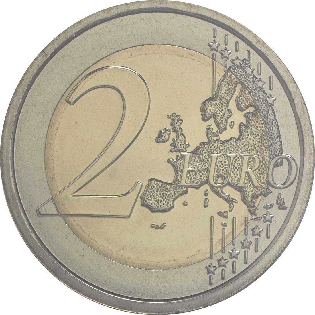 Vorderseite :San Marino : 2 Euro 550. Todestag von Donatello  2016 bfr
