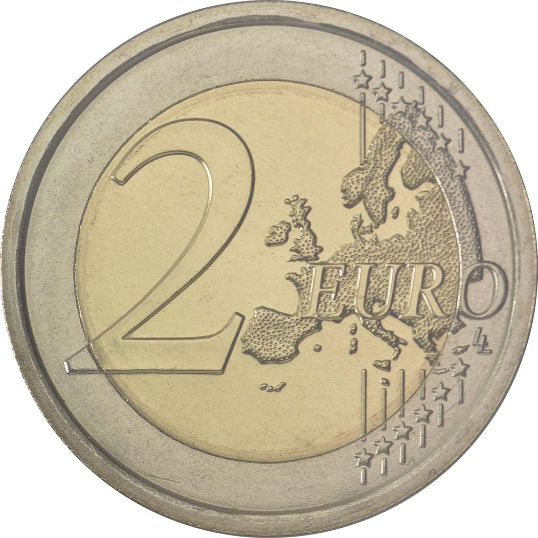 Vorderseite :San Marino : 2 Euro 400. Todestag von William Shakespeare  2016 Stgl.