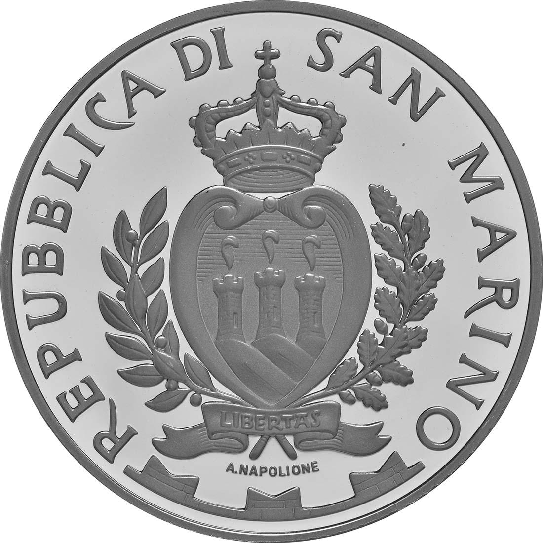 Rückseite:San Marino : 10 Euro 35. Jahrestag des ersten Grand-Prix-Rennens von San Marino in Imola  2016 PP
