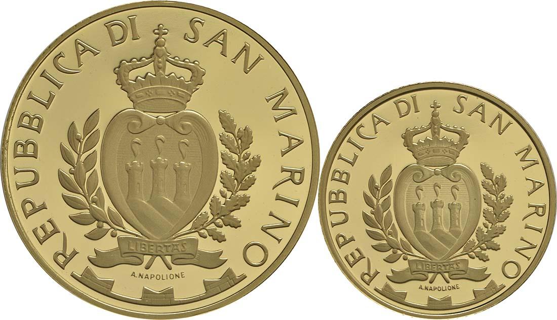 Rückseite:San Marino : 70 Euro Set: 20+50 Euro : Schlösser Chiesanuova und Fiorentino  2016 PP