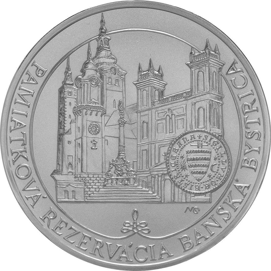 Vorderseite:Slowakei : 20 Euro Historisches Denkmalschutzgebiet Banská Bystrica  2016 Stgl.