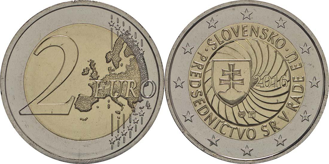 Slowakei : 2 Euro Erste EU-Präsidentschaft der Slowakei  2016 bfr