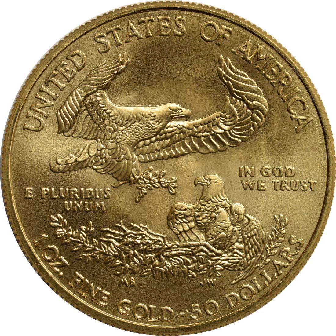Rückseite :USA : 50 Dollar Eagle  2016 Stgl.