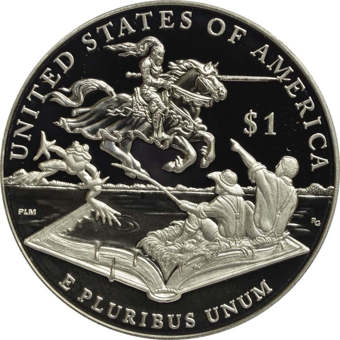 Rückseite :USA : 1 Dollar Mark Twain  2016 PP