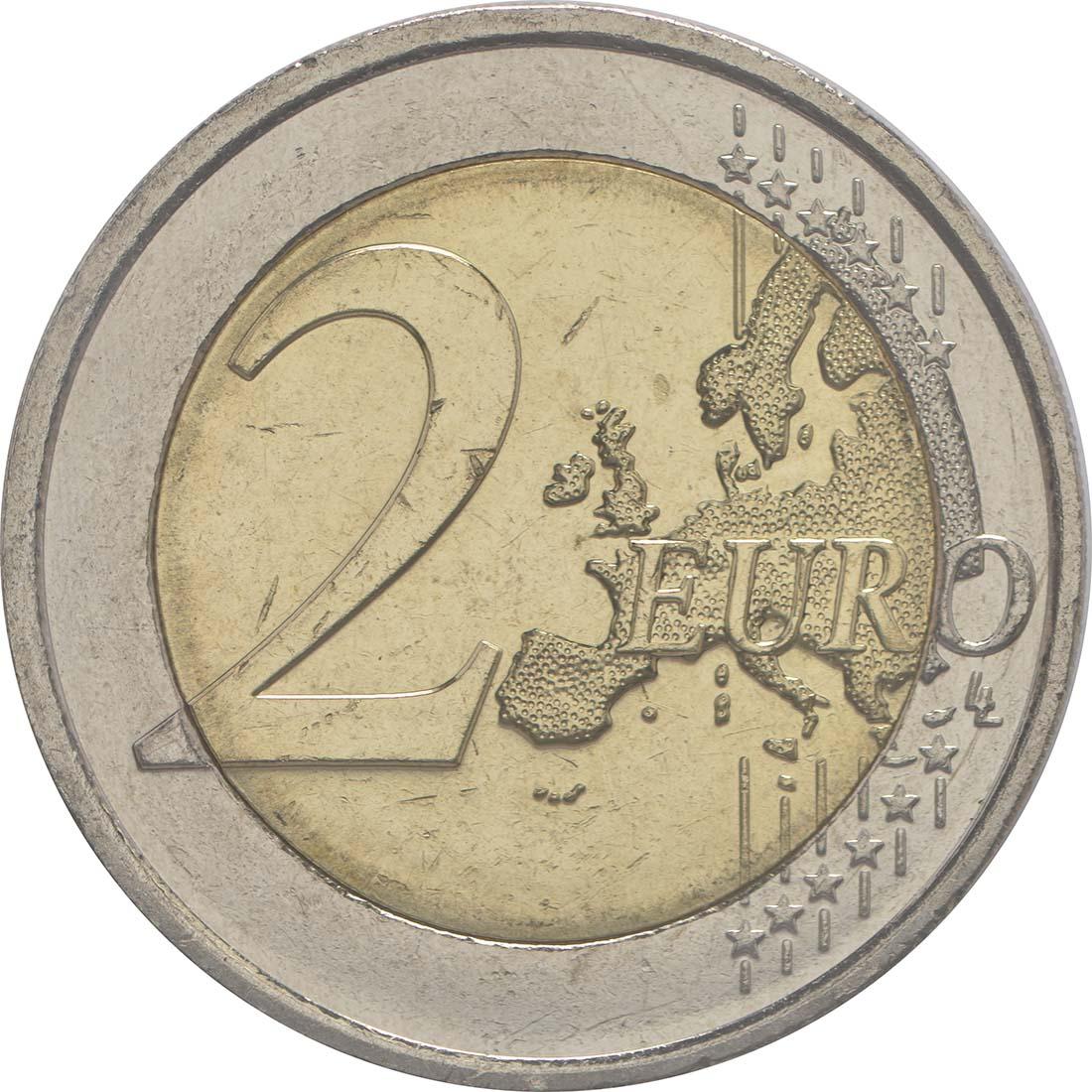Vorderseite :Irland : 2 Euro 100 Jahre Osteraufstand 1916  2016 bfr