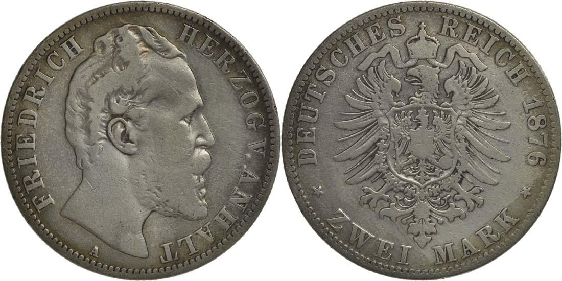 Lieferumfang:Deutschland : 2 Mark Friedrich I.  1876 s/ss.