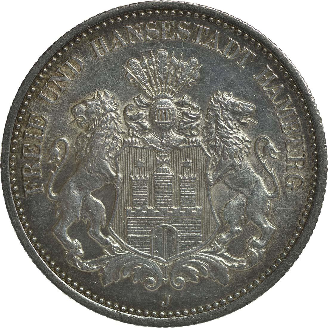 Vorderseite:Deutschland : 2 Mark  winz. Kratzer 1888 f.Stgl.