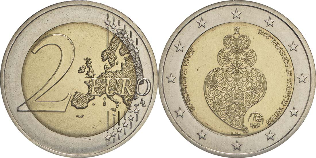 Portugal : 2 Euro Olympisches Team Rio 2016  2016 bfr