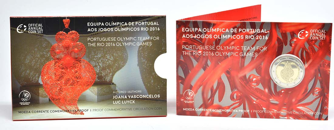 Portugal : 2 Euro Olympisches Team Rio 2016  2016 PP